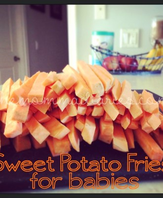 Sweet Potato Fries for Babies – Baby Led Weaning Recipe