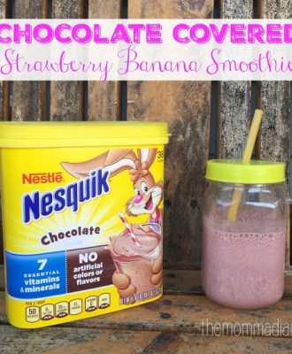 Chocolate Covered Strawberry Banana Smoothie