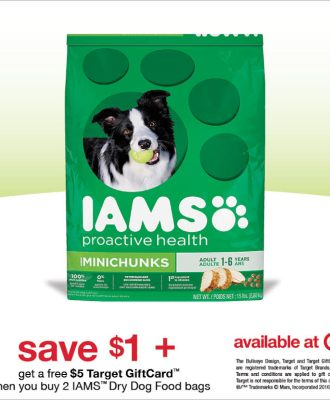 Save on IAMS Dog Food at Target and Get a Free $5 Gift Card!