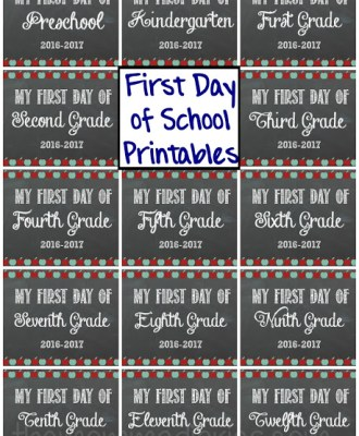 First Day of School FREE Printables!