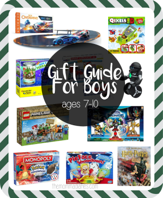 Holiday Gift Guide for Boys Ages 7-10