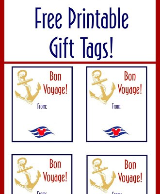 Disney Cruise Fish Extender Printable Gift Tags