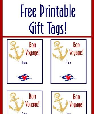 Disney Cruise Fish Extender Printable Gift Tags