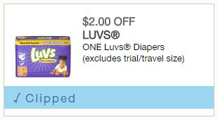 Savings on Luvs Diapers This Week!