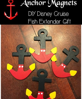 DIY Disney Cruise Line Mickey Mouse Anchor Magnets — Fish Extender Gift!
