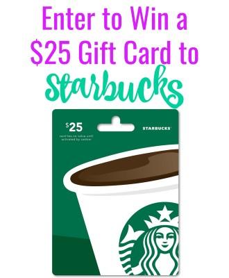 36th Birthday Bash — $25 Starbucks Gift Card Giveaway!!