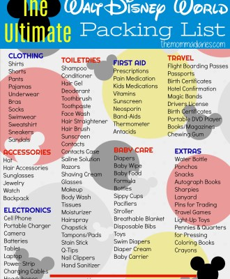 The Ultimate Disney Packing List + Free Printable!