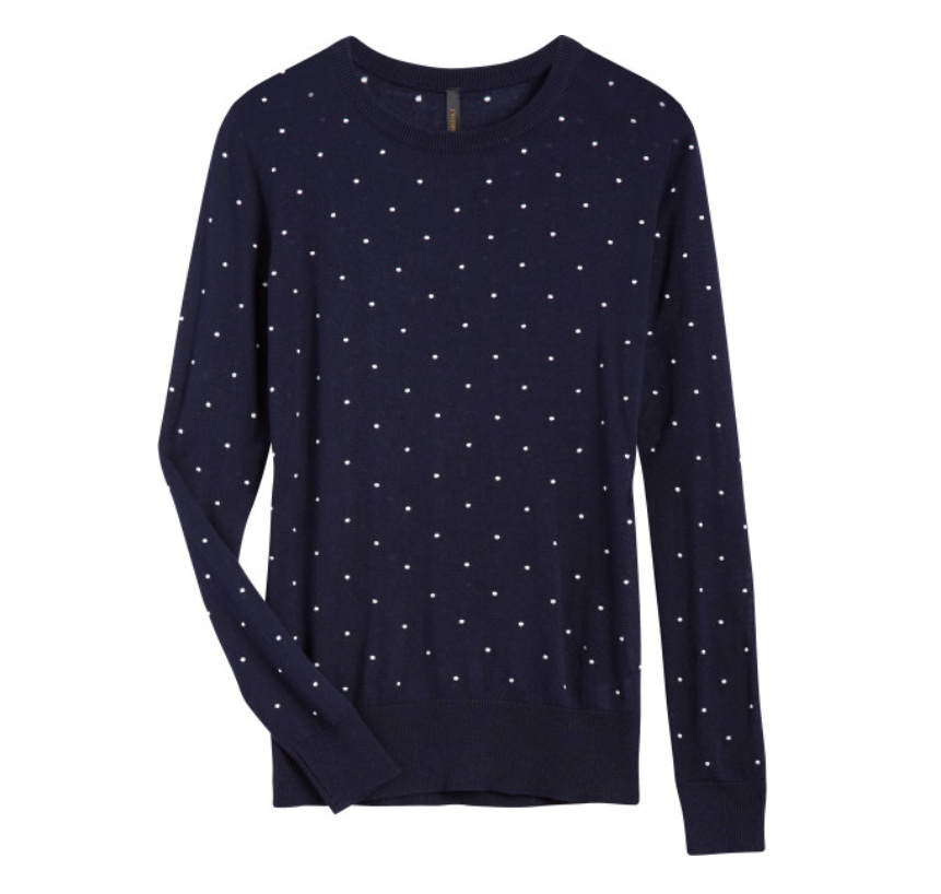 Stitch Fix Renee C Jerri Polka Dot Pullover Sweater