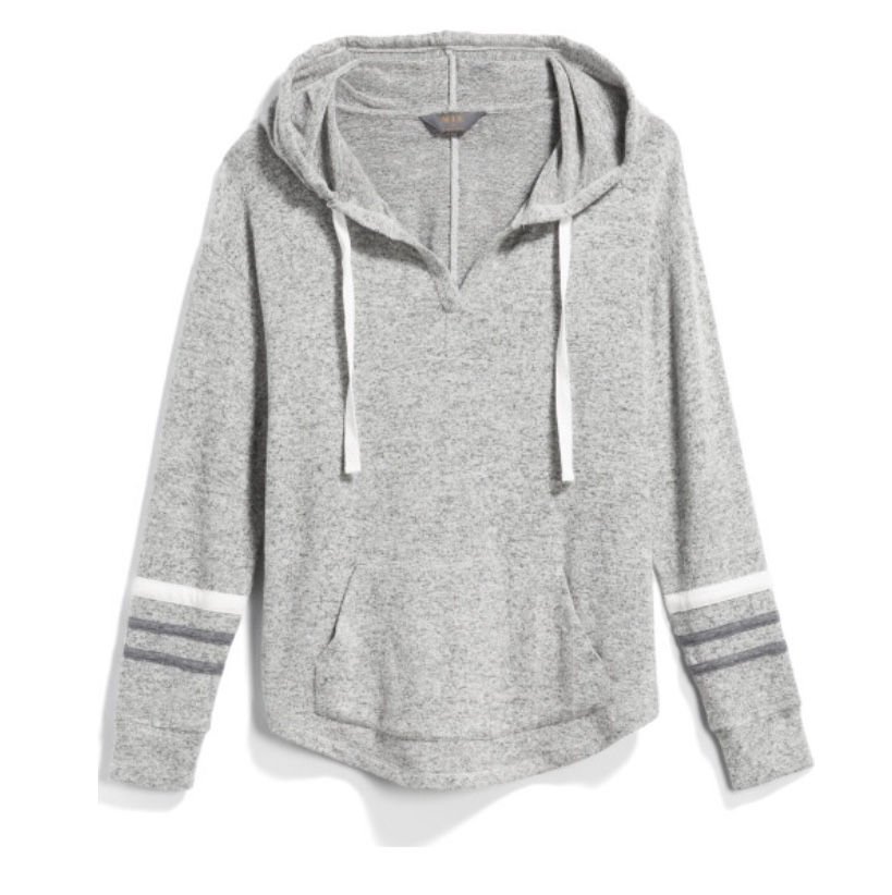 MIX BY 41 HAWTHORN Kallon Brushed Knit Hoodie