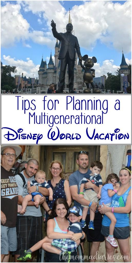 Tips for Planning Multigenerational Disney World Vacation
