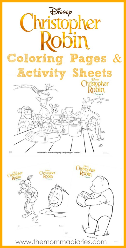 Christopher Robin Coloring Pages, Christopher Robin Activity Sheets, #ChristopherRobin, #ChristopherRobinEvent
