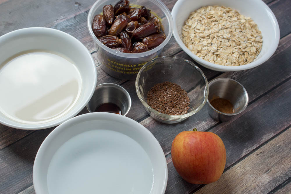 Caramel Apple Oatmeal Ingredients