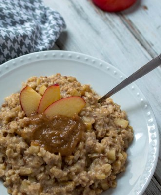 HOMEMADE CARAMEL APPLE OATMEAL