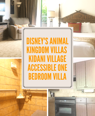 Disney's Animal Kingdom Villas Kidani Village Accessible One Bedroom Villa