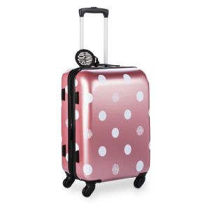 Rose Gold Minnie Dots Luggage