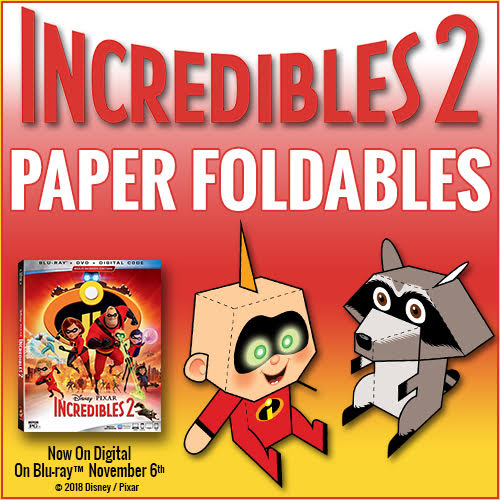 Jack-Jack and Raccoon Incredibles 2 Activity