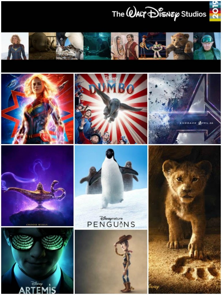 2019 Disney Movies, Disney Studios Movie Releases, 2019 disney movie releases, 2019 disney motion picture slate