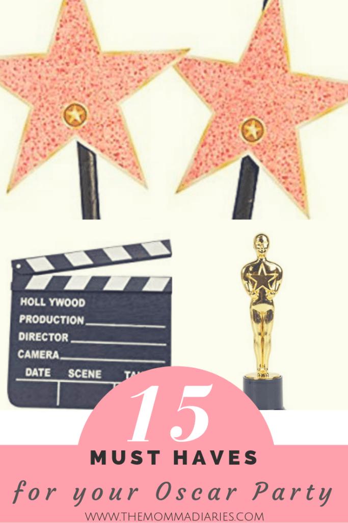 Oscar party must haves, oscar party supplies, academy awards party, #oscars, #academyawards