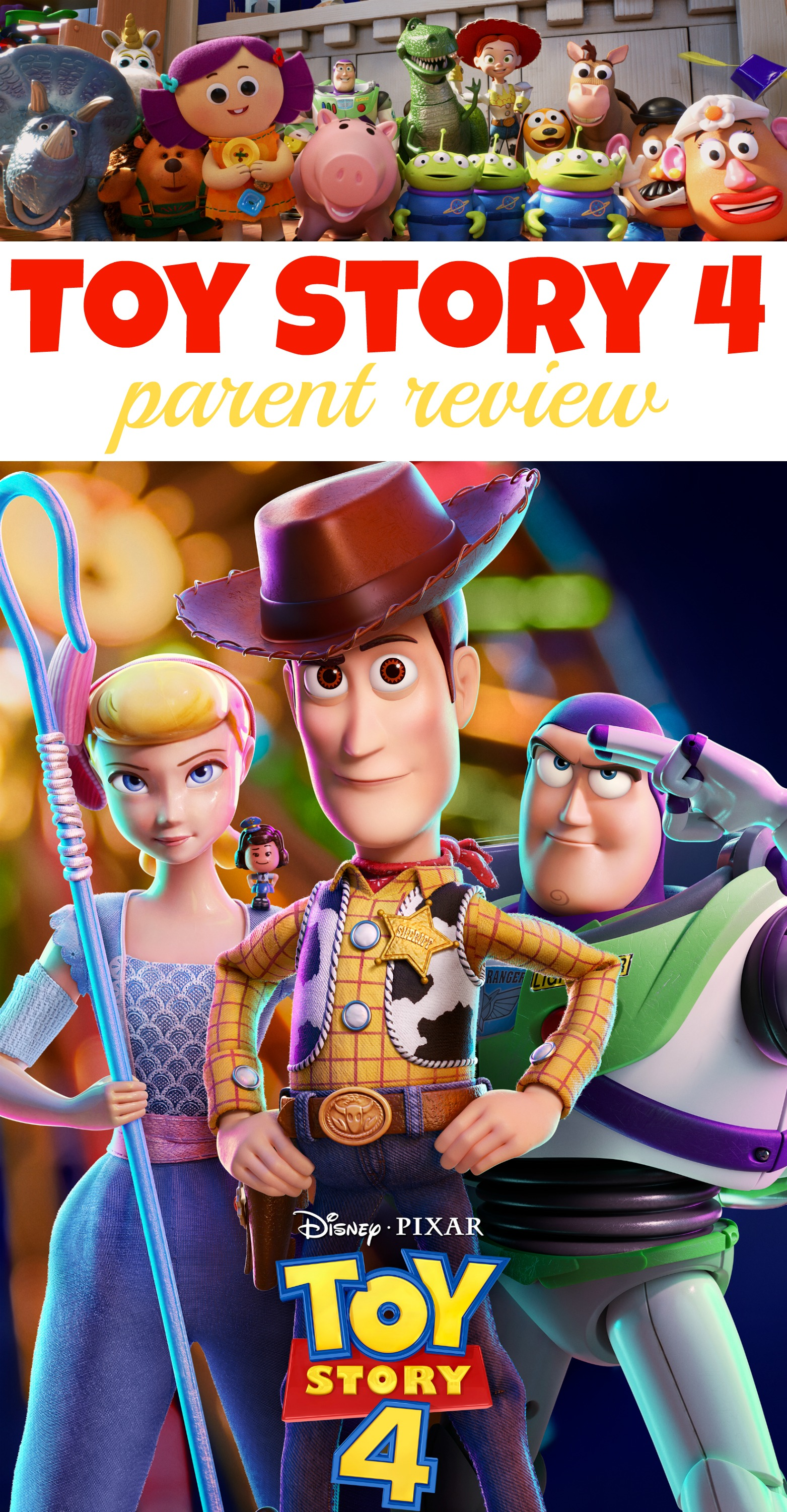 Toy Story 4 Parent Review, Toy Story 4 Kid Friendly, Toy Story 4 Safe for Kids, Toy Story 4 Movie Review, #ToyStory4 #Pixar #DisneyPixar #Movie Review