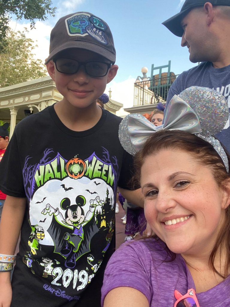 Mom and Son and Mickey's Not So Scary