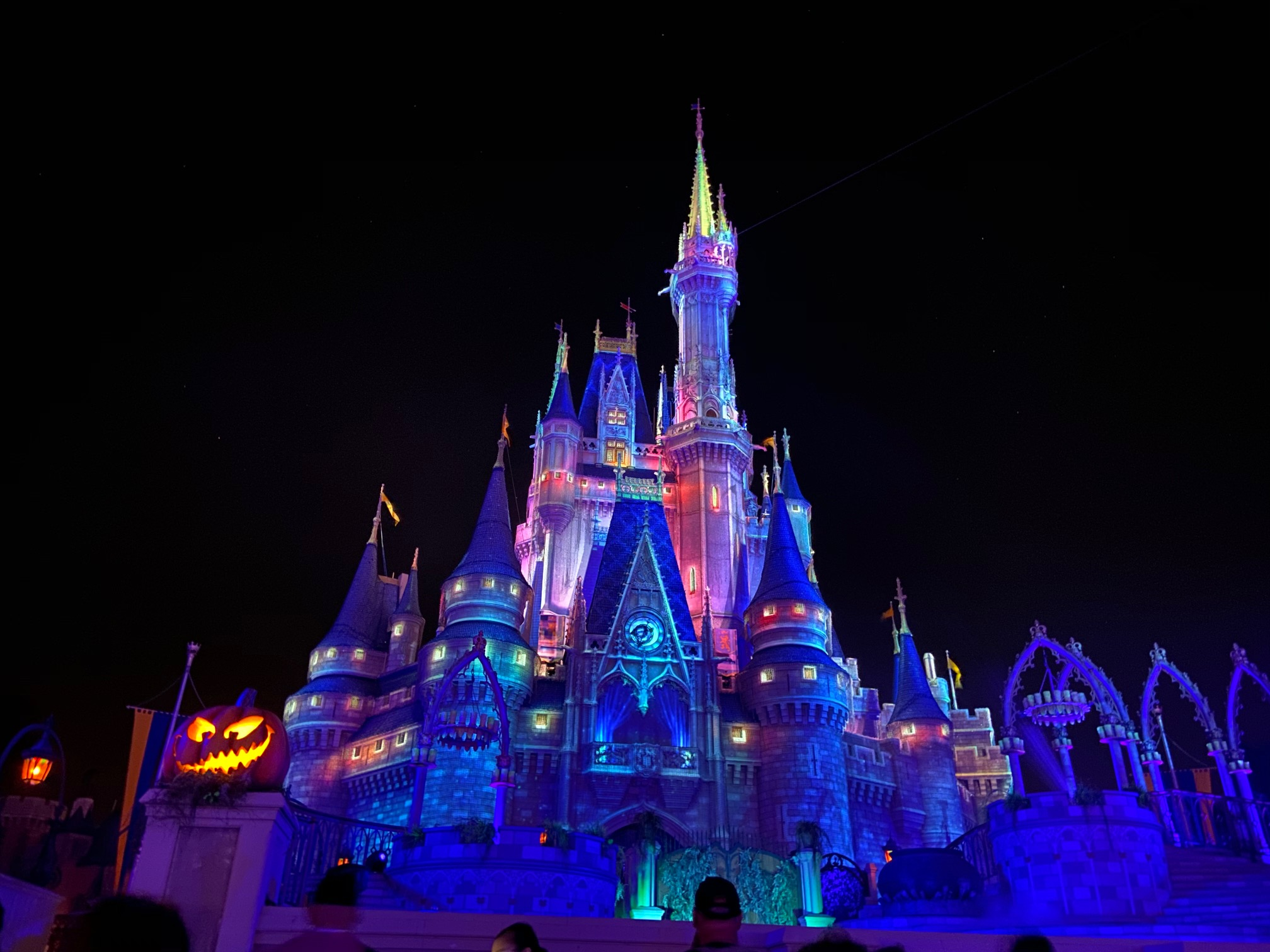Mickeys Not so Scary Halloween Party cinderella Castle