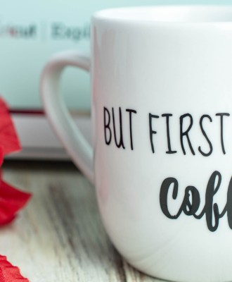 "Easy Cricut ""But First Coffee"" Mug"