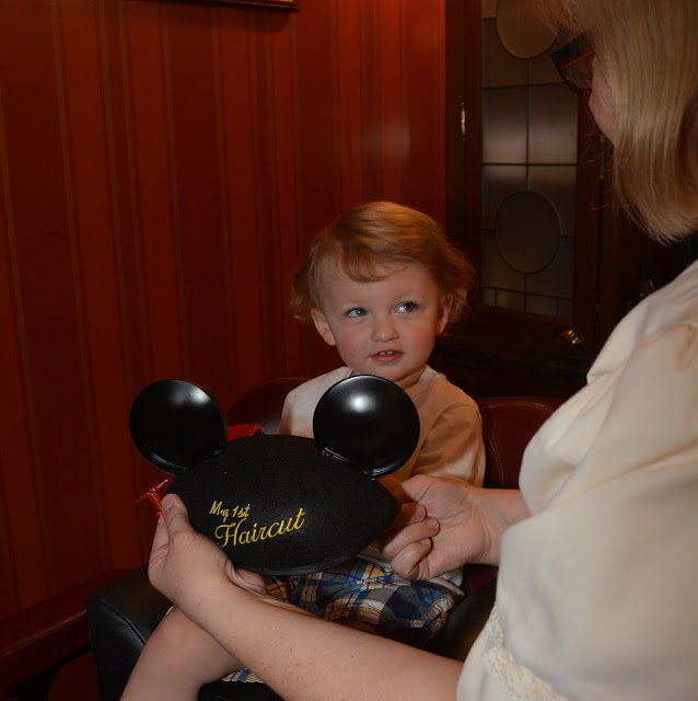 Baby's First Haircut at Disney's Harmony Barber Shop