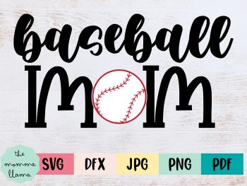 baseball mom cricut file