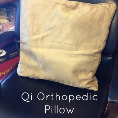 Chair Back Support Childrens Table Chairs 2 Qi Orthopedic Pillow Review - The Mom Maven