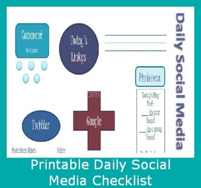 Printable Daily Social Media Checklist