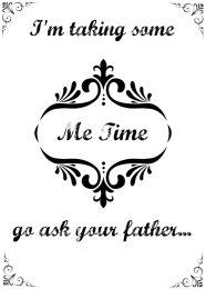 Free printable Me Time sign