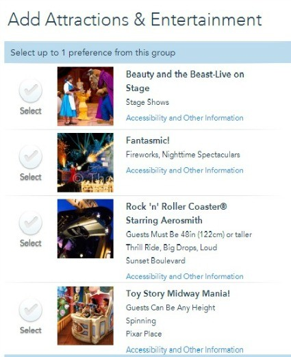 FastPass+ Tiered stsyem at Disney's Hollywood Studios
