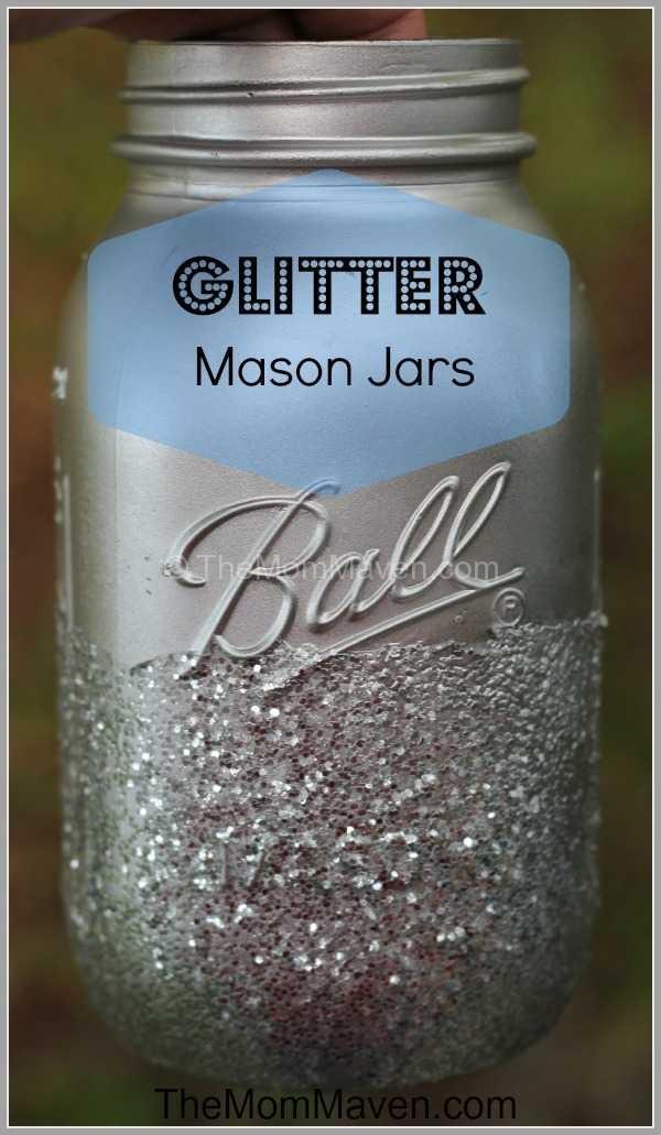 Mason Jar Wedding Ideas 56 Cool Glitter Mason Jar wedding