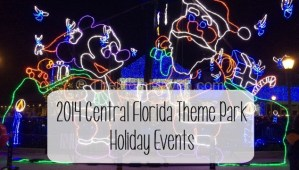 Holiday Events at the Central Florida Theme Parks 2014