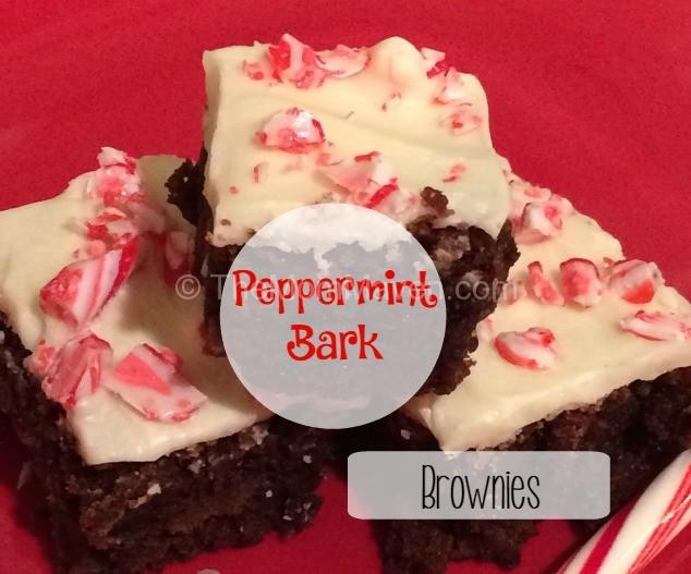 Simple Peppermint Bark Brownies