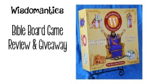 Wisdomantics Bible Board Game Review and Giveaway
