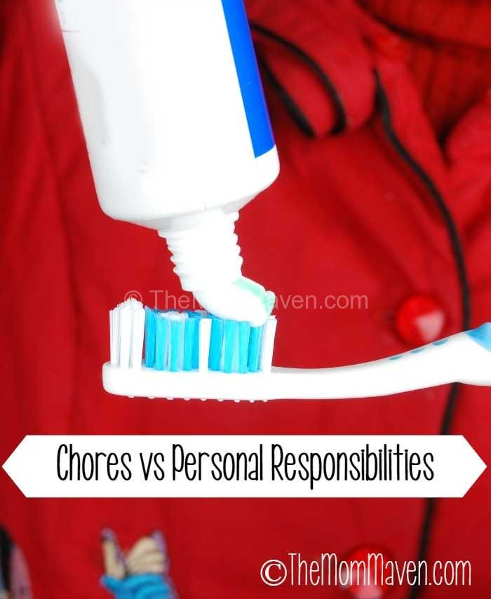 Chores vs Personal responsibilities-what is the difference and why does it matter?
