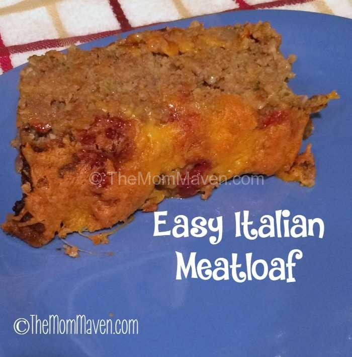 Easy Italian Meatloaf a perfect comfort food.