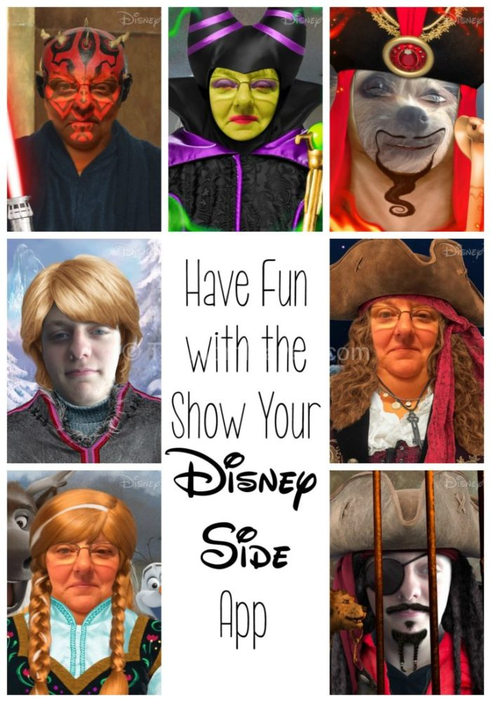 Have fun with the show your disney side app