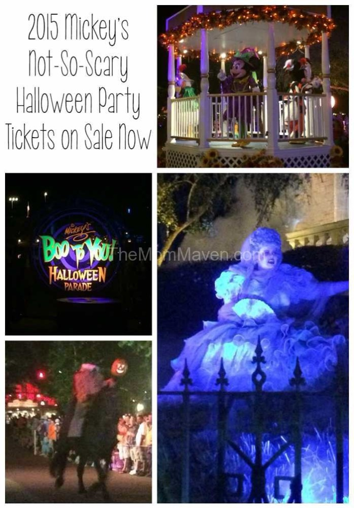 2015 Mickey's Not-so-scary Halloween Party Tickets are on sale now