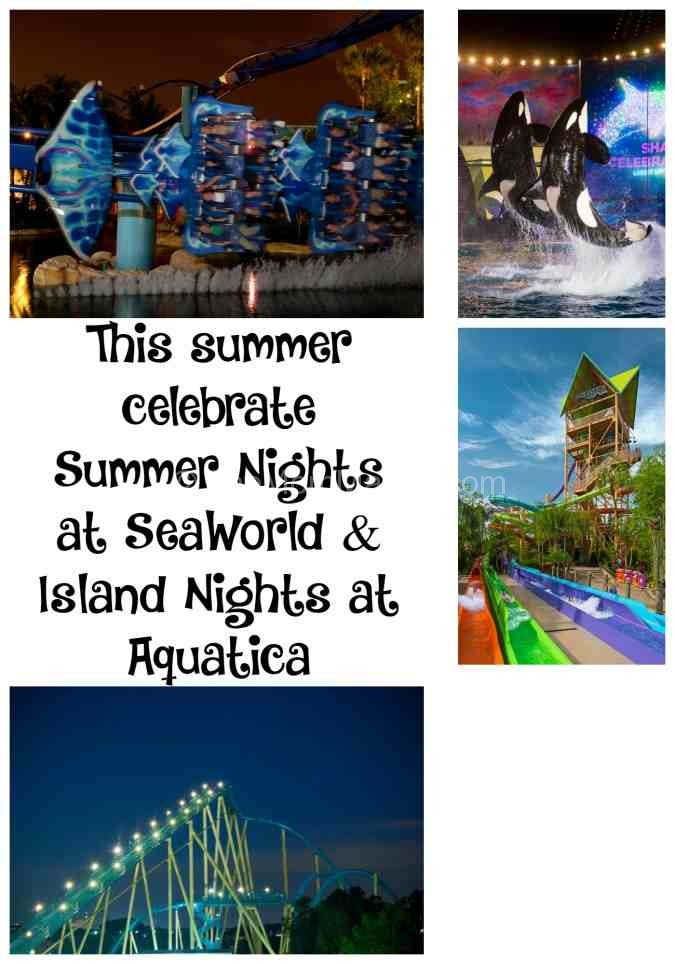 Celebrate nighttime at SeaWorld and Aquatica