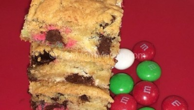 Holiday Mint M&Ms Bar Cookie Recipe
