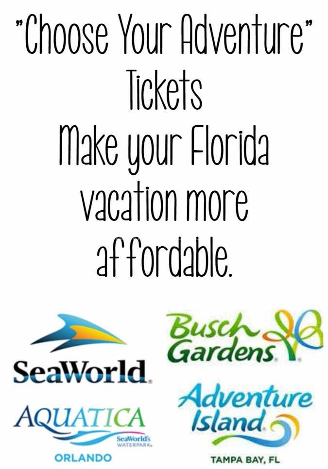 Choose your adventure-SeaWorld, Busch Gardens, Aquatica, Adventure Island