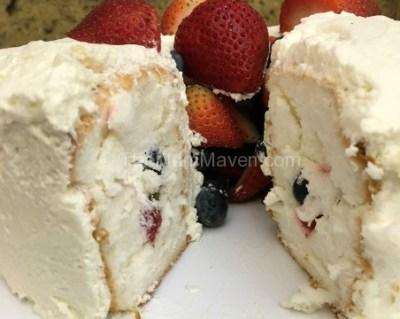 Patriotic Dessert – Fruit Tunnel Cake