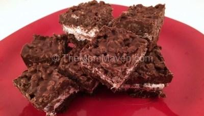 Fluffernutter Brownie Crunch Bars