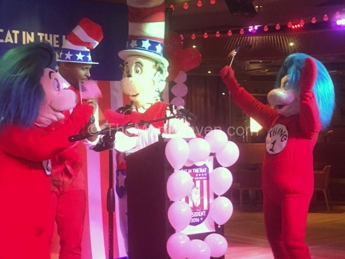 Cat in the Hat for President Carnival Cruise Lines