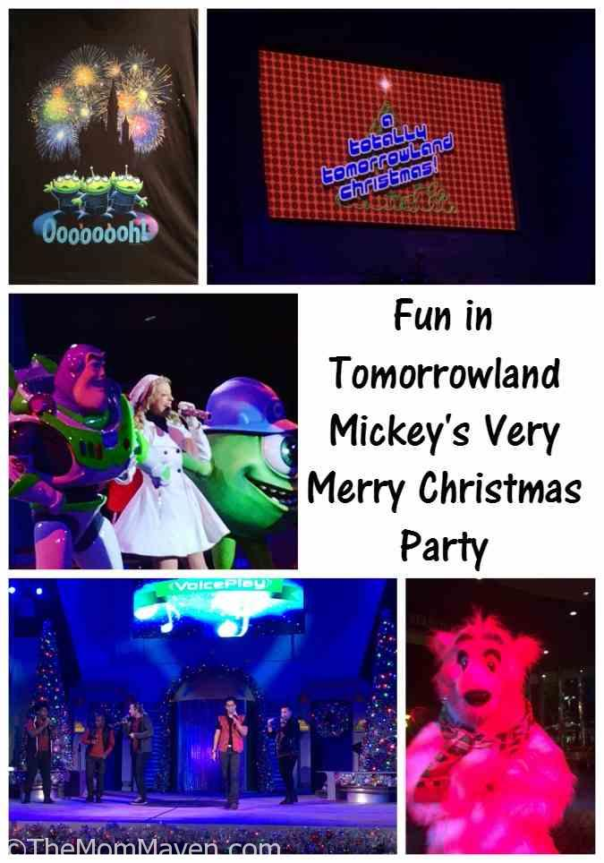 Mickey's Very Merry Christmas Party, having fun in Tomorrowland