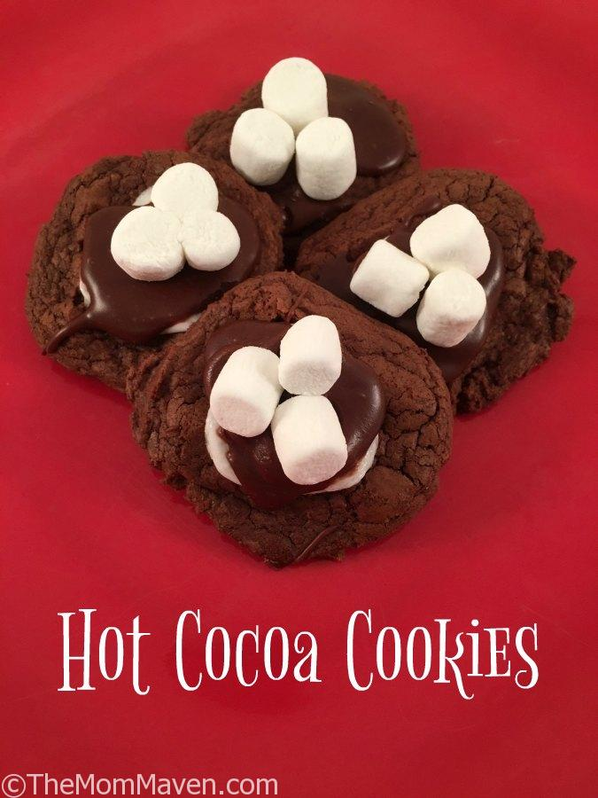 Hot Cocoa Cookies are a perfect treat for after sledding, playing in the snow, or any time!