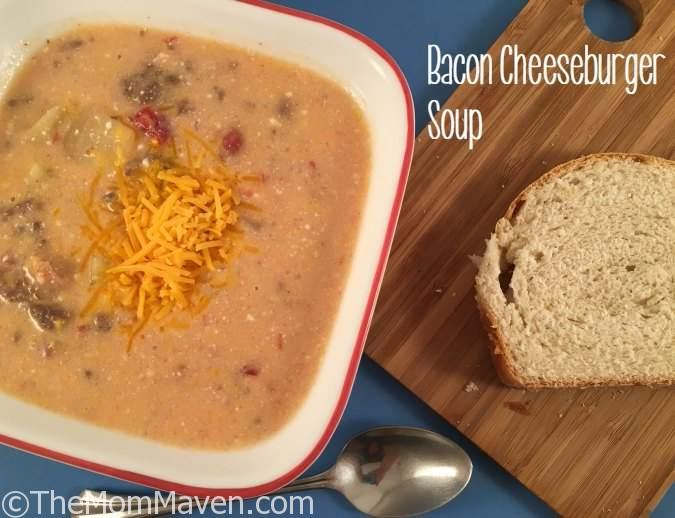 This Bacon Cheeseburger soup is a perfect meal on a cold day.