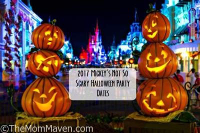2017 Mickey's Not So Scary Halloween Party and Mickey's Very Merry Christmas Party Dates Announced